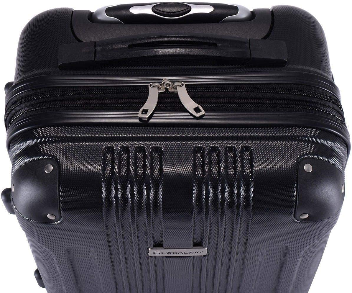 Nual/_shop 20 Expandable Rolling Carry On Travel Hard Shell ABS Case Suitcase Luggage Bag