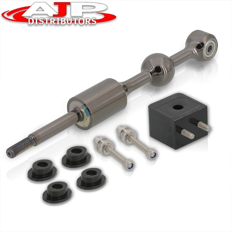 AJP Distributors Performance Racing Upgrade Billet Aluminum Short Throw Shifter Kit Gunmetal For Genesis Coupe 2.0T 3.8L V6 M//T MT 2009 2010 2011 2012 2013 2014 2015 2016 09 10 11 12 13 14 15 16