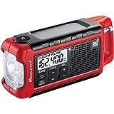 Midland - ER210, Emergency Compact Crank Weather AM/FM Radio - Multiple Power Sources, SOS Emergency Flashlight, NOAA Weather