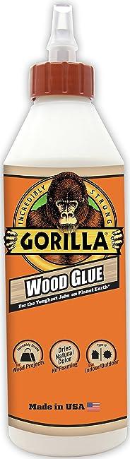 Pegamento de madera Gorilla, botella de 18 onzas, 1 unidad, Blanco
