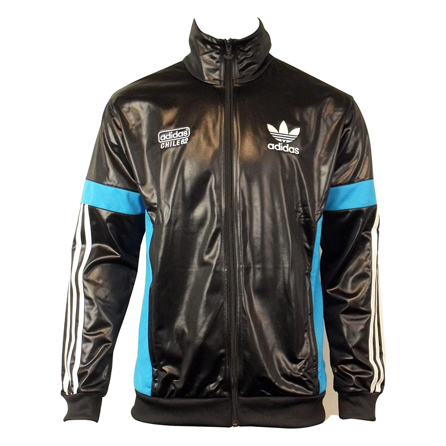adidas Originals Mens Chile 62 TT Black Track Suit Top Jacket Retro Wet  Look 3XL: Amazon.co.uk: Sports & Outdoors