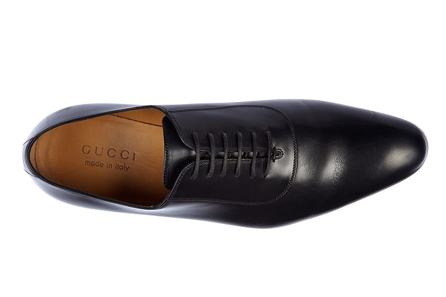 c18891c2e43 Gucci men s classic leather lace up laced formal shoes oxford betis glamour  black UK size 9.5 353017 BLM00 1000  Amazon.co.uk  Shoes   Bags