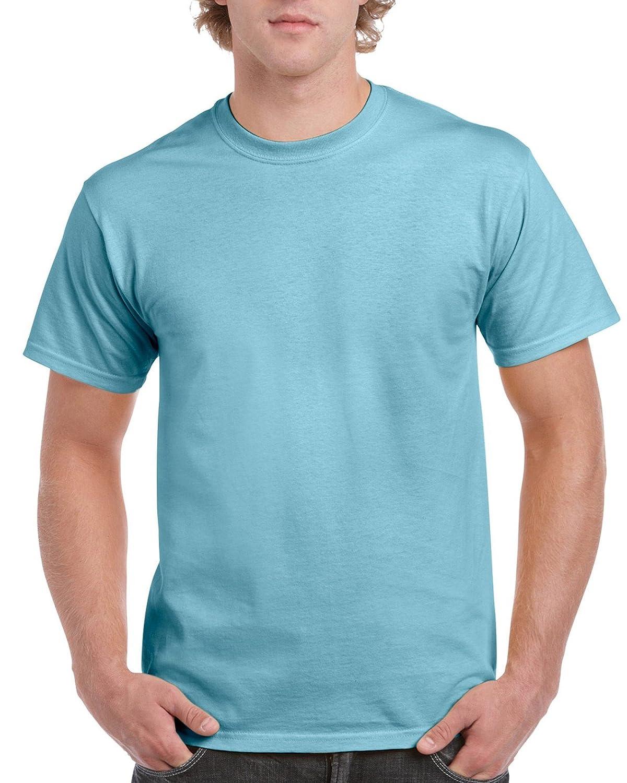 Gildan Mens Classic Ultra Cotton Short Sleeve T Shirt Kaos Polos Choco Solid