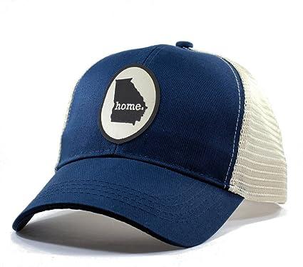 07d1d8f1a1d1c ... discount code for homeland tees mens georgia home state trucker hat  blue 75ef0 a962e