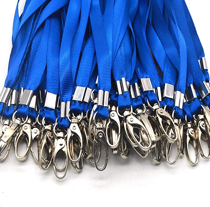 Bulk cordini per cordino 44,5/cm ideale per badge ID portachiavi 100Pack Blue