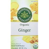 Traditional Medicinals Organic Ginger, 20 Tea Bags (Pack of 6)