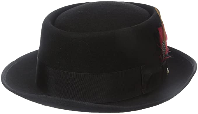 04b80b1e76d Scala Men's Wool Felt Porkpie Hat: Amazon.ca: Clothing & Accessories