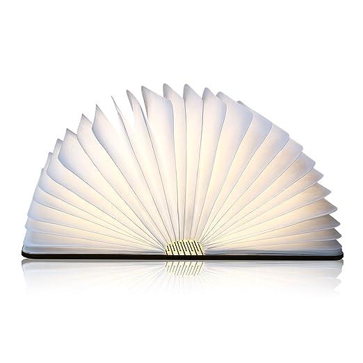 Papier DupontPortable Et Imperméable3000k Lampe Rechargeable360° De Bois Livre PliableEn LedD'ambianceUsb Albrillo Naturel srCBhQxtdo