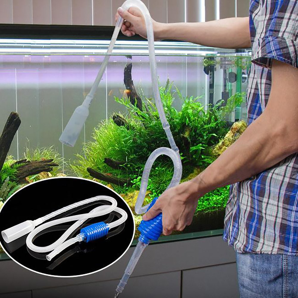 Aquarium Fish Tank Cleaner Siphon Pump Gravel Vacuum Water Filter NUOMI