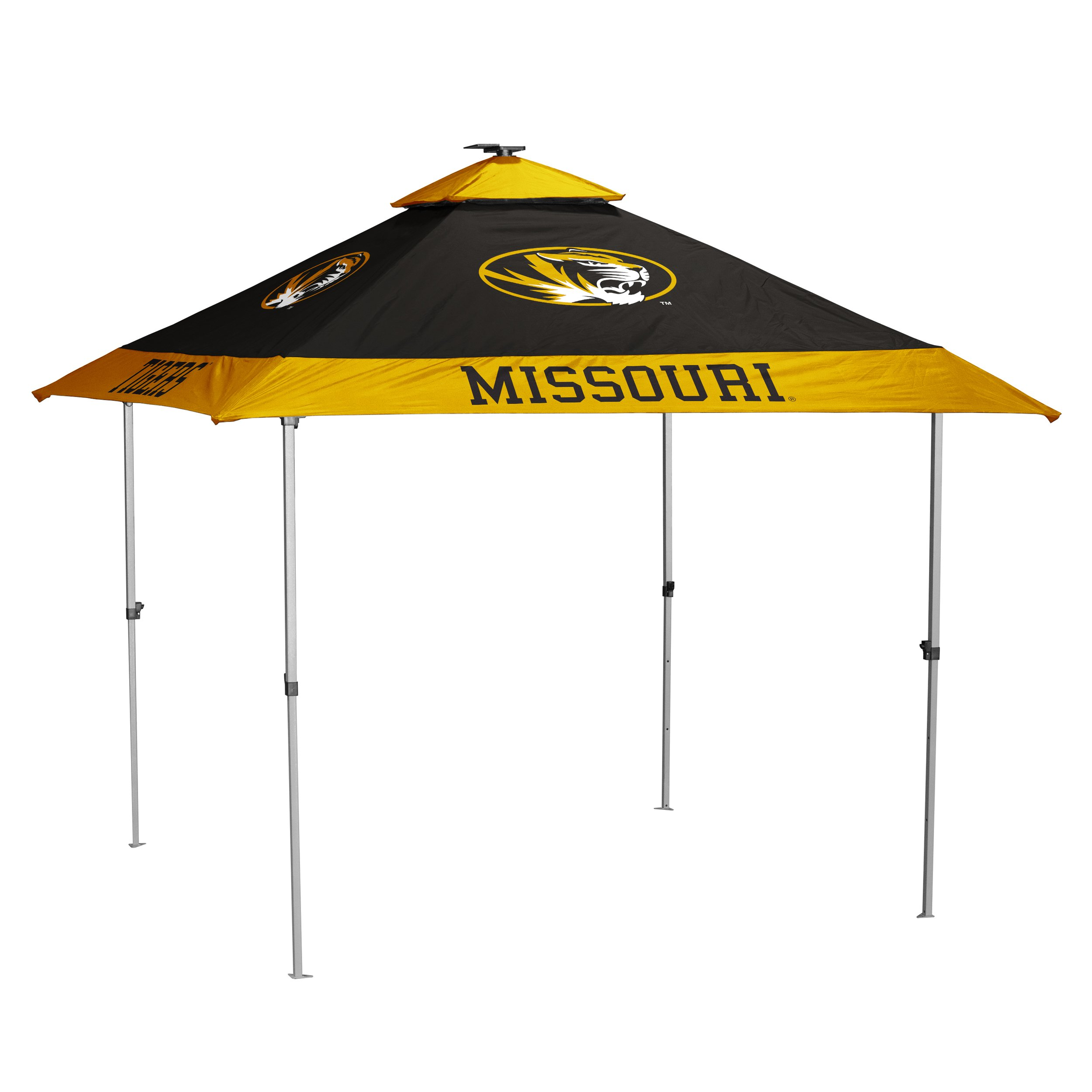 Logo Brands NCAA Missouri Tigers Unisex Pagoda Tent, Black, One Size