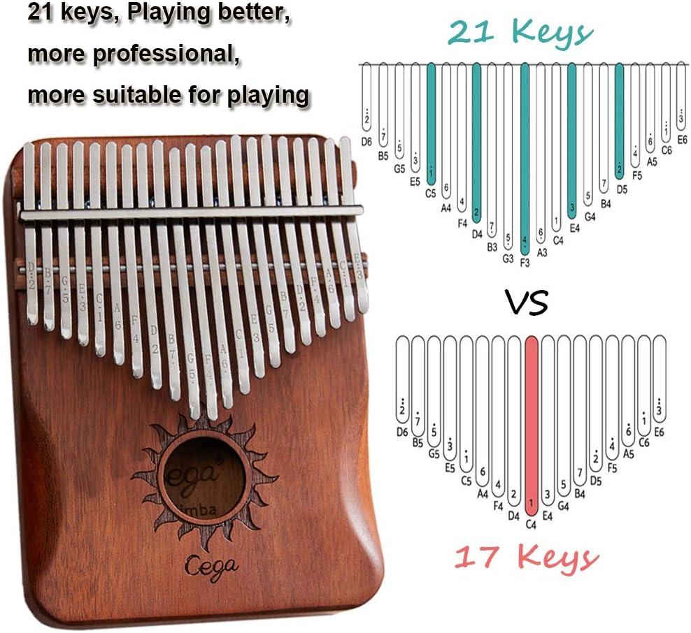 Kalimba Marimbaphone ideale come regalo per principianti Sonne Piattaforma per pollice con 21 chiavi