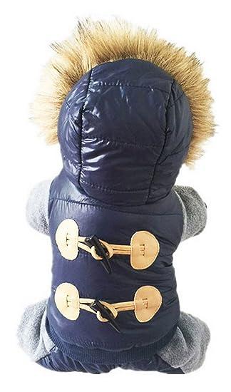 La vogue-invernale Sudaderas Perro Abrigo Cálido animales deportivo Chaqueta Busto 53 cm azul: Amazon.es: Productos para mascotas