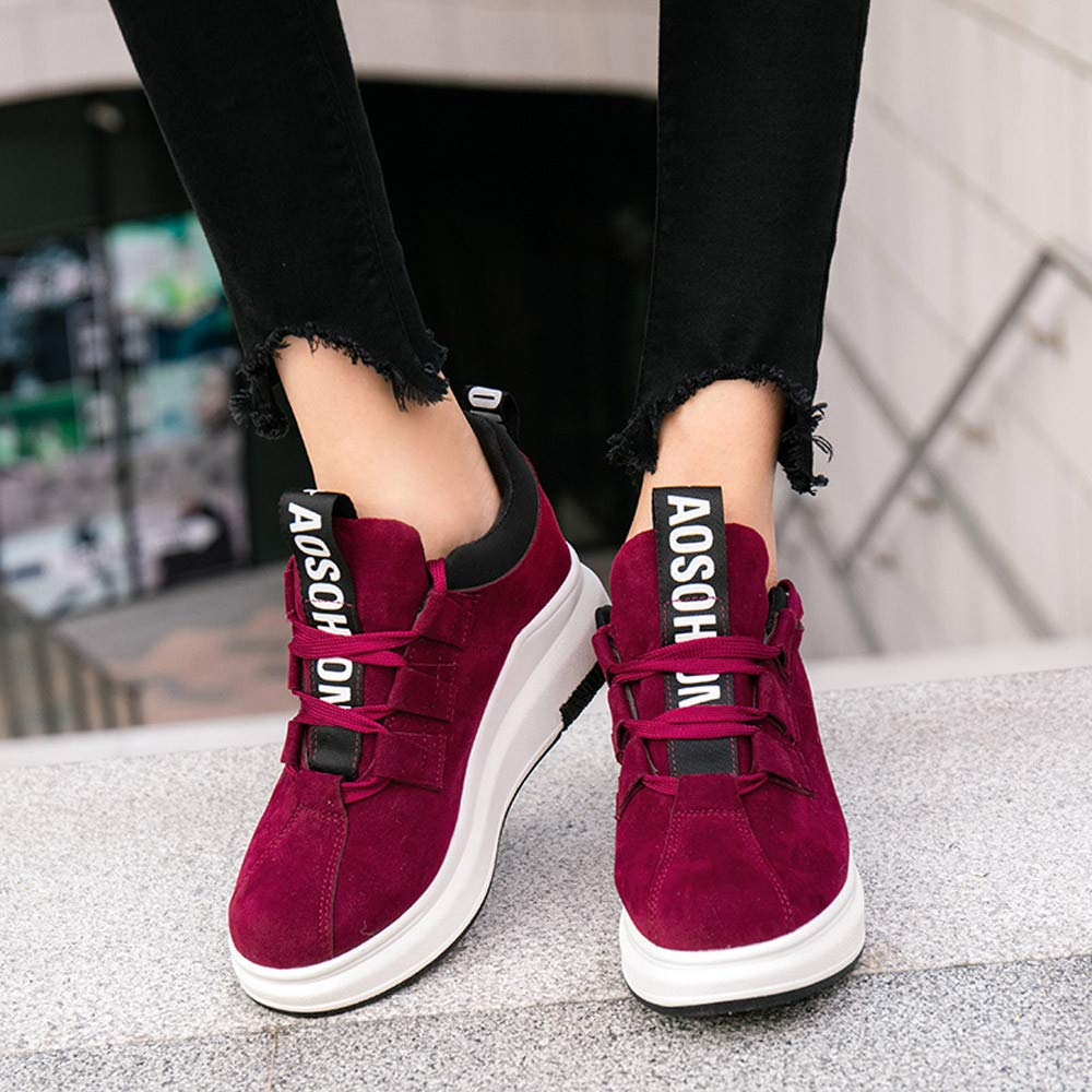 Sneakers Women Casual Outdoor Flat Sports Shoes Thick-Soled Platform Breathable