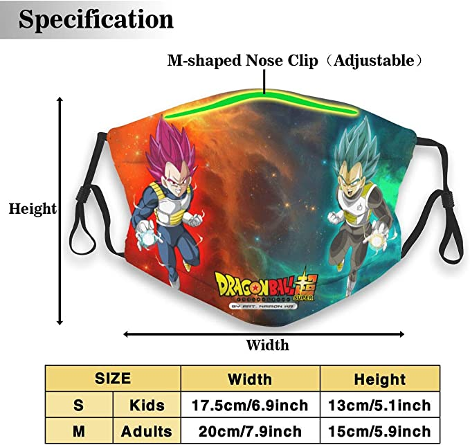 Dragon Ball Z Goku Adult Child Funny Face for Windproof,Dustproof,Outdoor,Sports