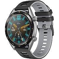Pasek do zegarka Huawei Watch GT2 46 mm/GT 46 mm, 22 mm, wymienne ramię silikonowe, sportowa bransoletka kompatybilna z…