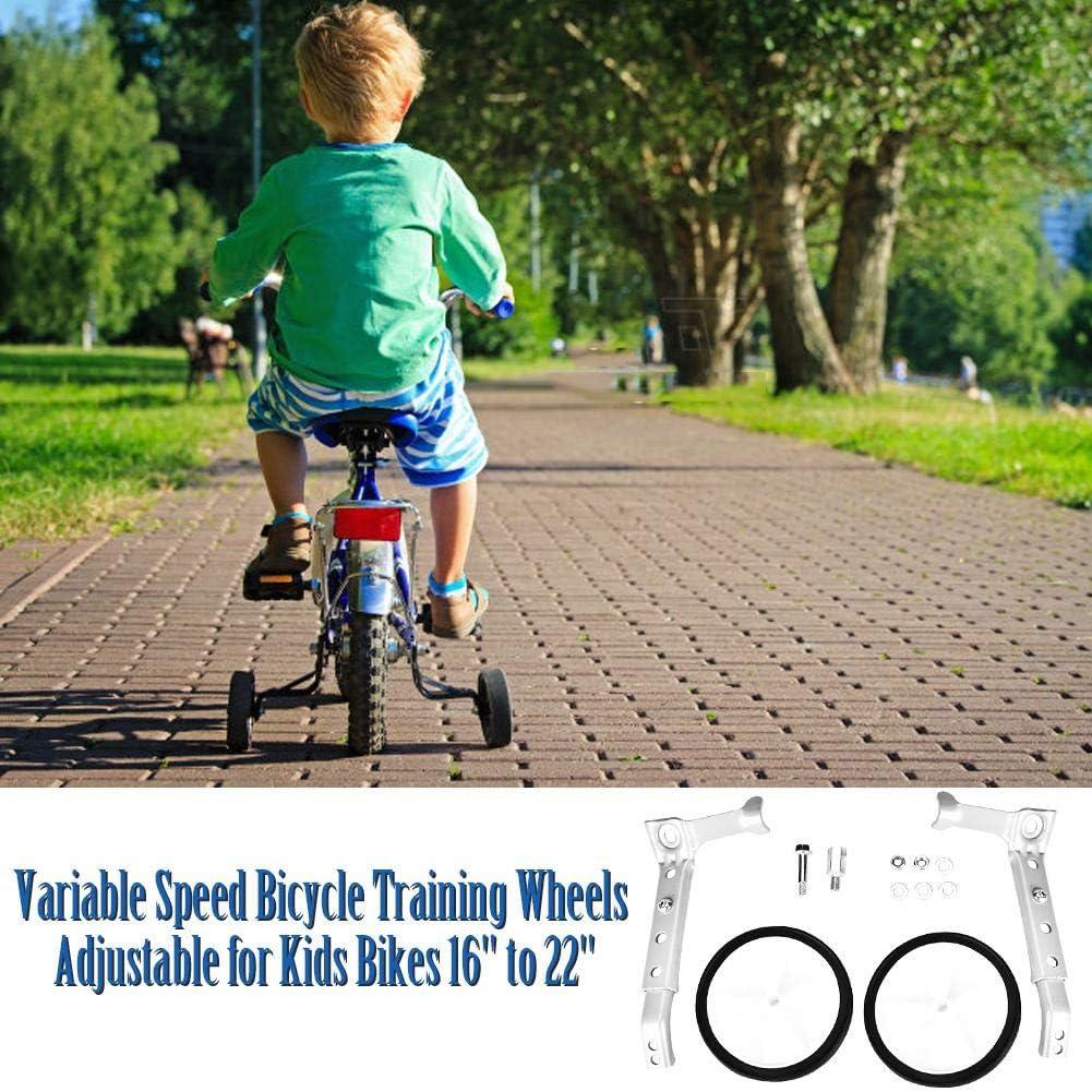 Ruedas de Apoyo de Entrenamiento de Bicicleta de Velocidad Variable Ajustables para Bicicletas Universal para Ni/ños de 16a 22 lahomie Ruedas Estabilizadoras
