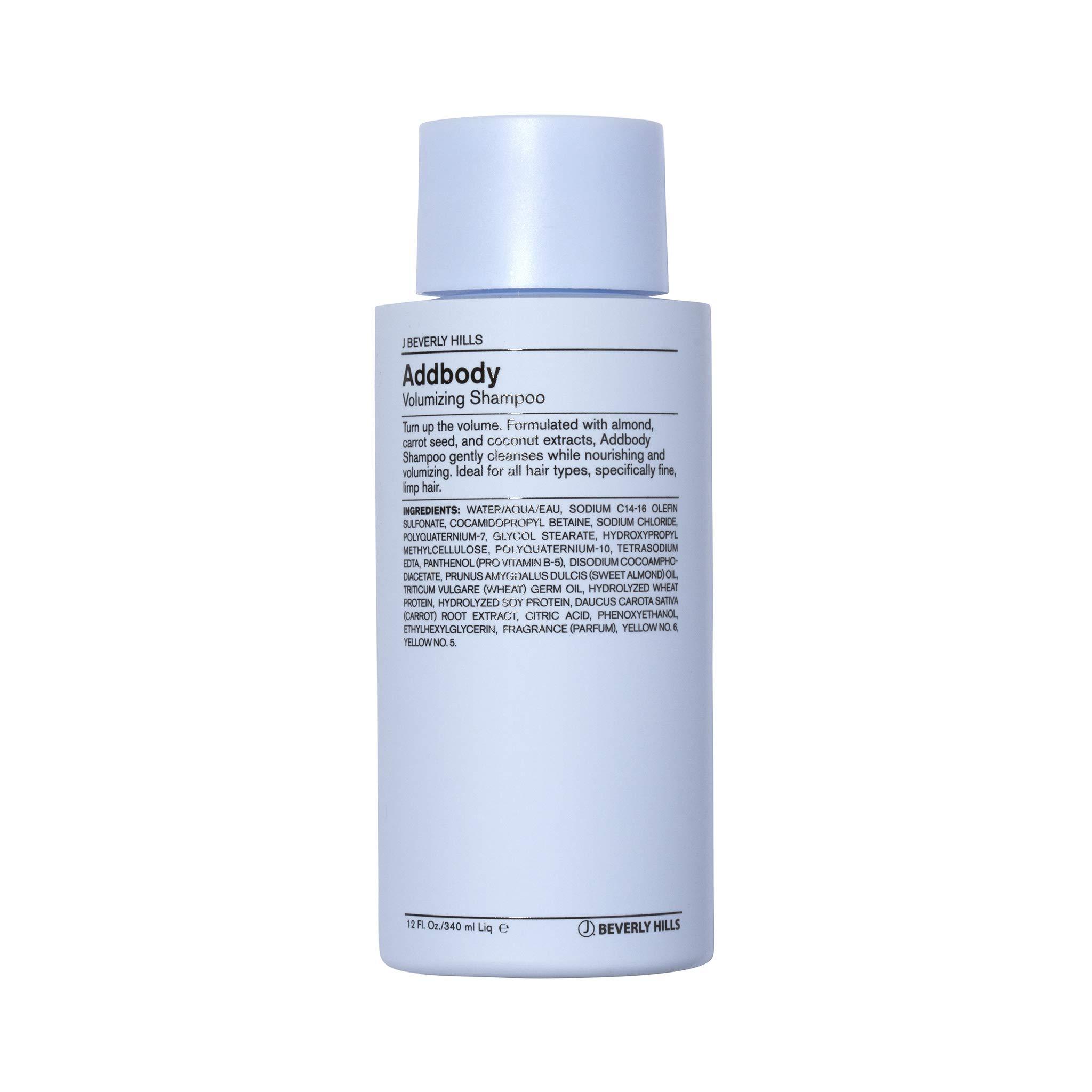 J Beverly Hills Blue Addbody Shampoo, Volumizing Shampoo, 12 oz Bottle