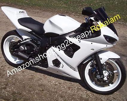 Amazon.com: Full White Moto Fitting For Yamaha YZFR6 YZF R6 ...