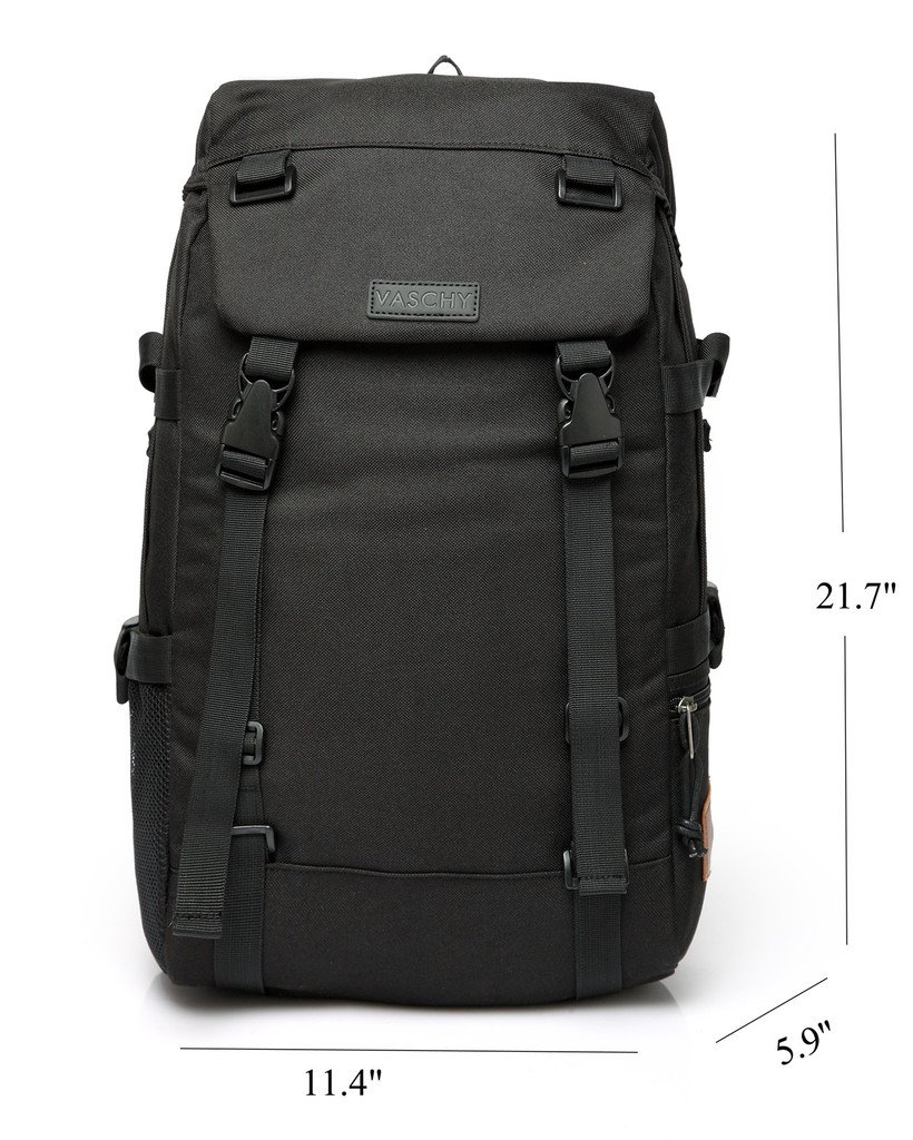 c4c2f5d217a4 Travel Backpack for Men,VASCHY Unisex Anti Theft Buckle Hiking Backpack for  School Fits 15.6 inch Laptop in Black