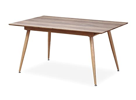 Intensedeco Table Extensible Scandinave Betty Chene 6 A 8
