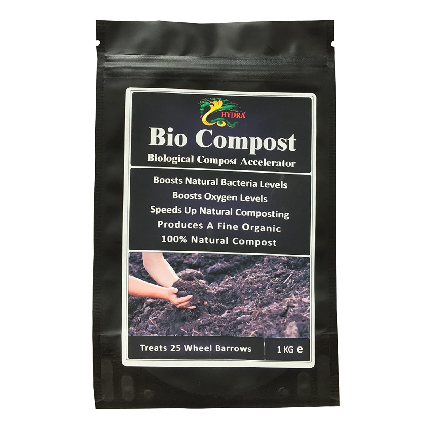 HYDRA BIO COMPOST- 1 KG - Compost Booster, Highest Quality of Compost Soil Conditioner Environmentally Friendly Product Hydra International Ltd