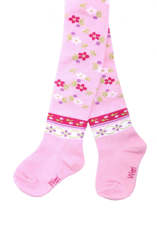 Weri Spezials Baby and Children Tights, Pink, Ethno