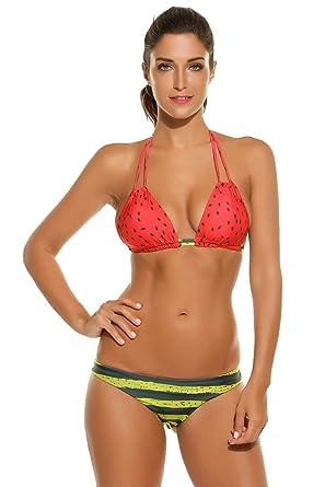 Lonlier Femmes Sexy Halter Patchwork point haut rayé de deux pièces Wiast Bikini rembourré Moins Cher Nouvelle Visite Pas Cher Acheter Prix En Ligne Pas Cher Ky63puXkP