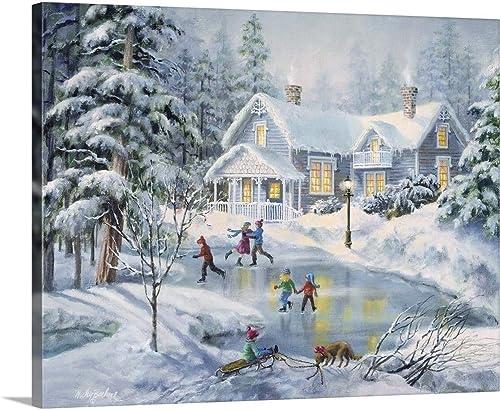 A Fine Winter's Eve Canvas Wall Art Print