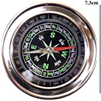 Electomania Stainless Steel Directional Magnetic Compass for Travel (Black)