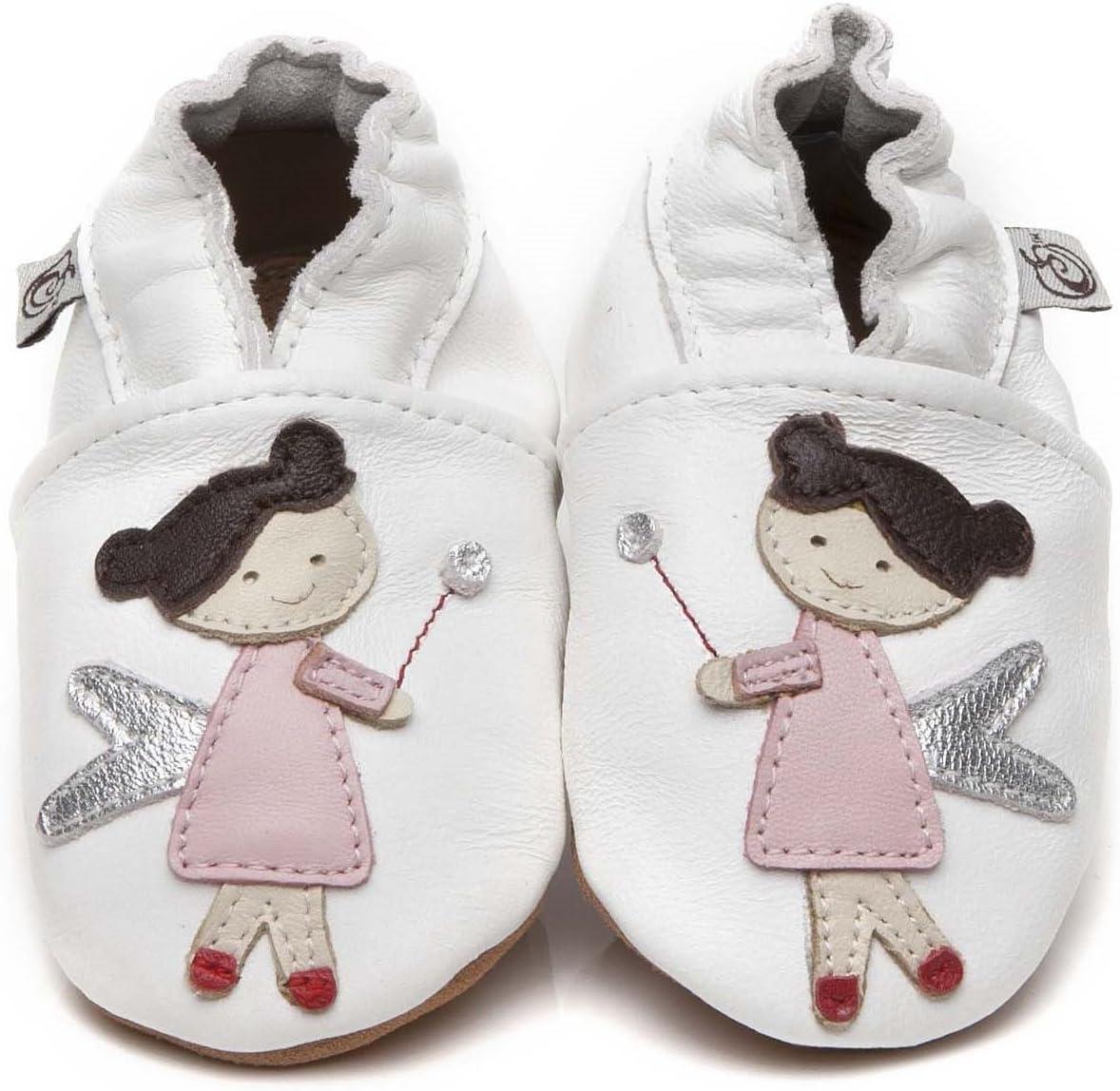 Suaves Zapatos De Cuero Del Bebé Hada 6-12 meses