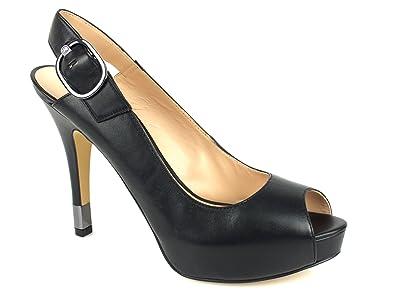 f1db7e0b59b3be GUESS Femme Escarpins Plateaux Pumps sandales à lanières Noir: Amazon.fr:  Chaussures et Sacs