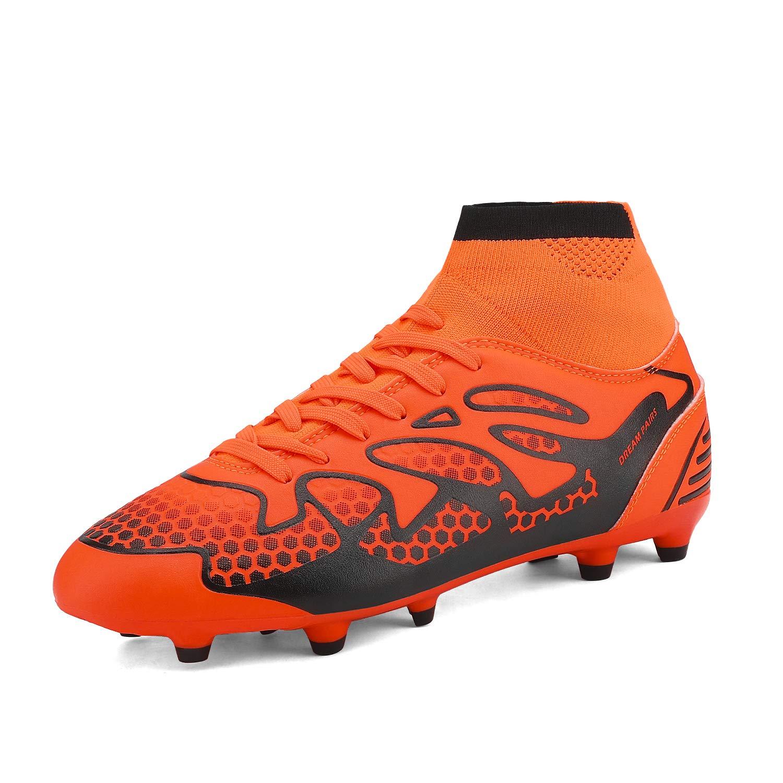DREAM PAIRS Chaussures de Hommes Football Blanc Royal /à Crampons de la Mode Masculine
