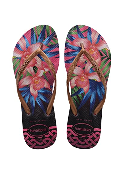759f04339 Havaianas Flip Flops Women Slim Tropical  Amazon.co.uk  Shoes   Bags