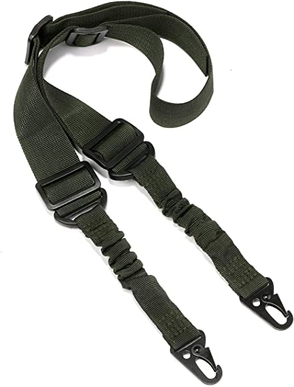 1 x Adjustable 3-point Rifle Sling Tactical Gun Sling Strap Hook For Hunting
