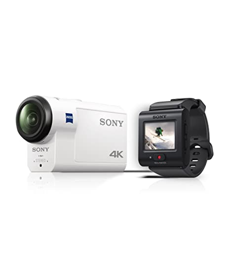 Sony Action CAM FDR-X3000R - Videocámara (4K, tecnología Balanced Optical SteadyShot, WiFi, GPS, FullHD), Blanco