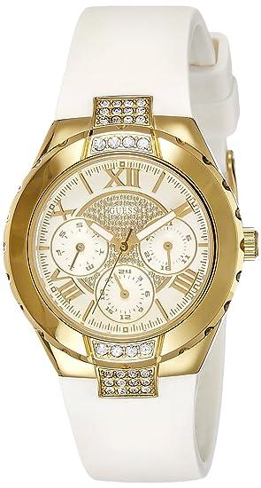 W0327l1 Color Cuarzo MujerCorrea Guess De Blanco Reloj Para Goma edBCox
