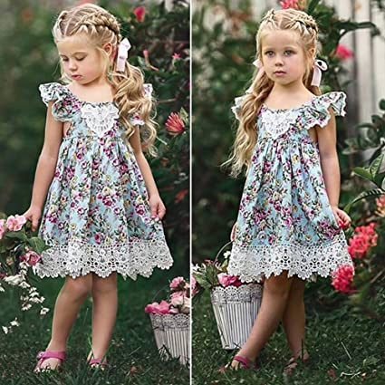 Ropa de Niñas, DOTBUY Moda Niñas Niños Vestido de la Ropa Vestido de Los Niños
