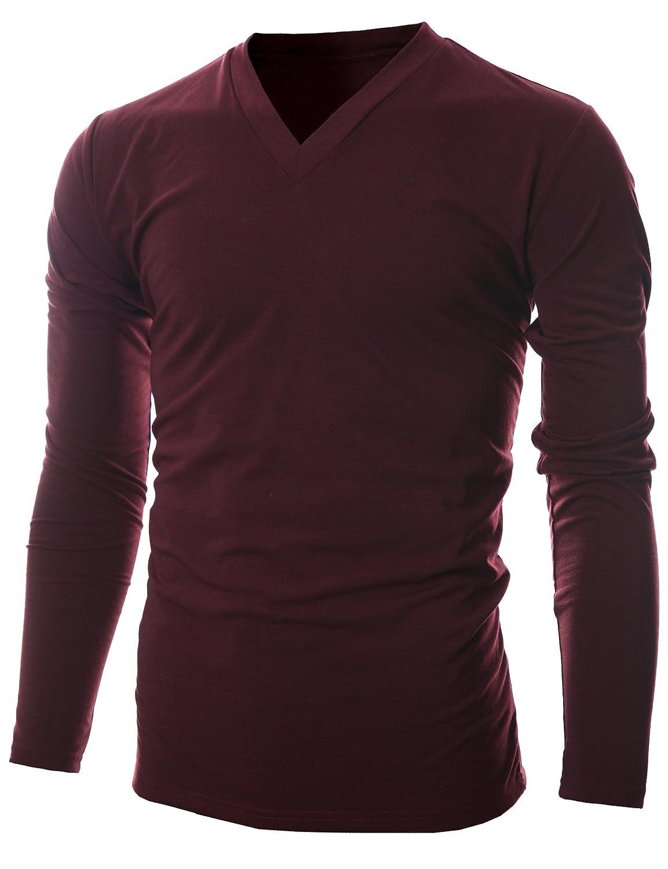 GIVON SHIRT メンズ B07B65VHPG Large|Dcp043-burgundy Dcp043-burgundy Large