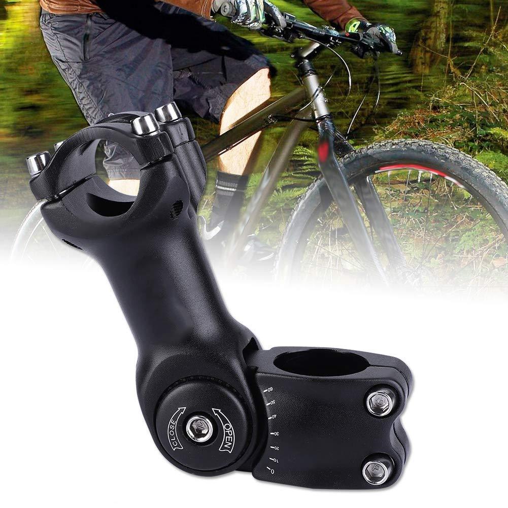 VGEBY1 Mountain Bicycle Stem Road Bike Riser 0-60/° Adjustable Bike Handlebar Stem Clamp Fork Extender for XC MTB Mountain Road City Bike