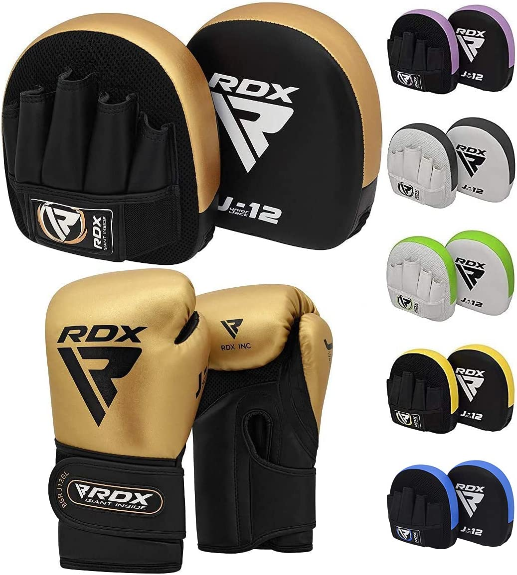 RDX Kids Punch Bag UNFILLED Set Junior Kick Boxing Heavy MMA Training Youth Gloves Punching Mitts Muay Thai Martial Arts 2FT