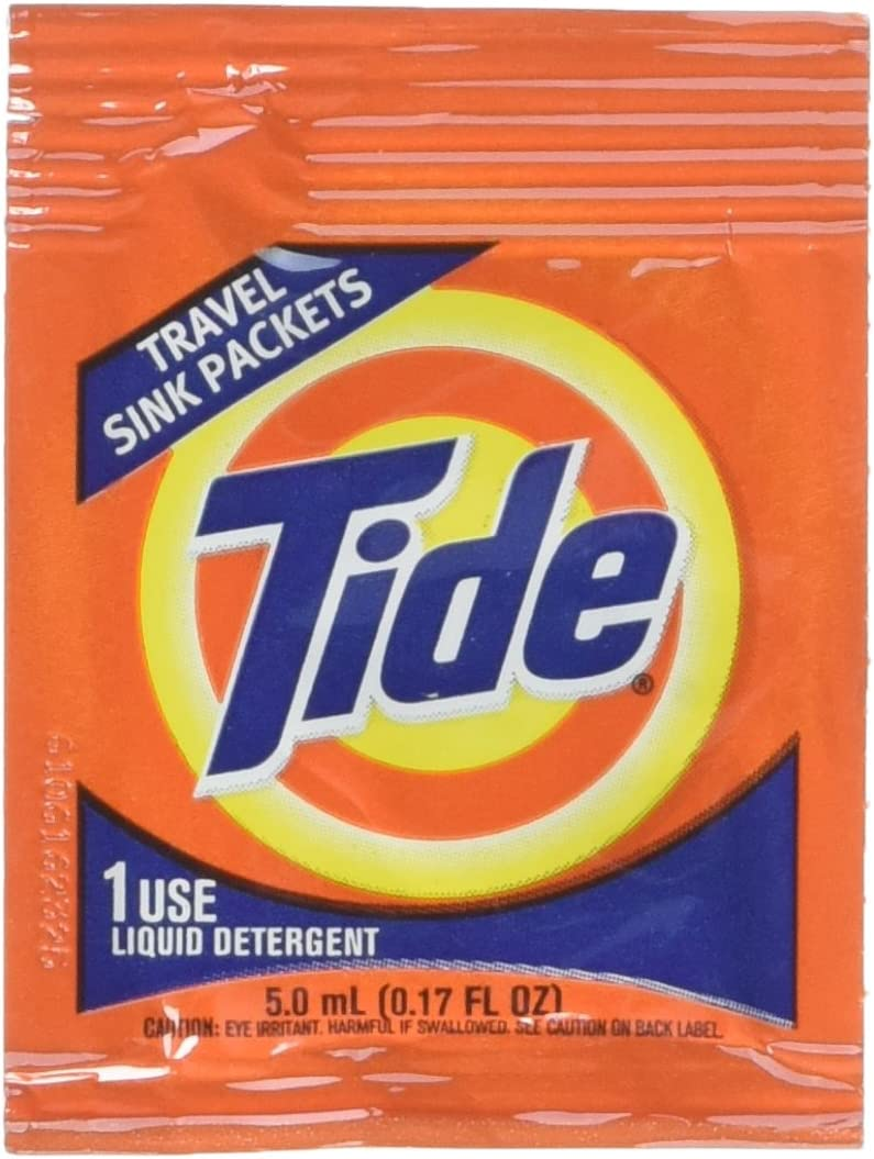 Tide Travel Sink Packets 3ct Laundry Detergent for Hiking, RV, Camping, Backpacking, Outdoors, International (Pack of 2)