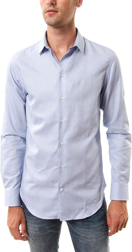 Emporio Armani - Camisa formal - para hombre azul celeste 41: Amazon.es: Ropa y accesorios