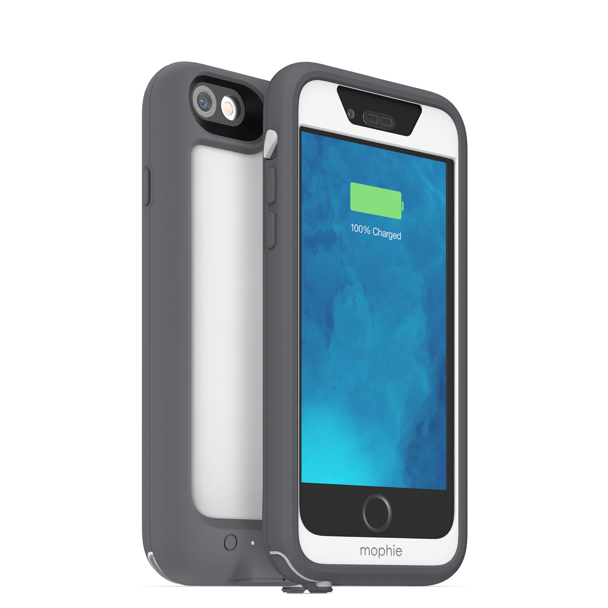 mophie juice pack H2PRO - Waterproof Mobile Protective Battery Pack Case for iPhone 6/6s - White by mophie (Image #4)