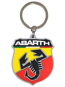 Abarth 21754 Suave al tacto, escudo Key Ring.