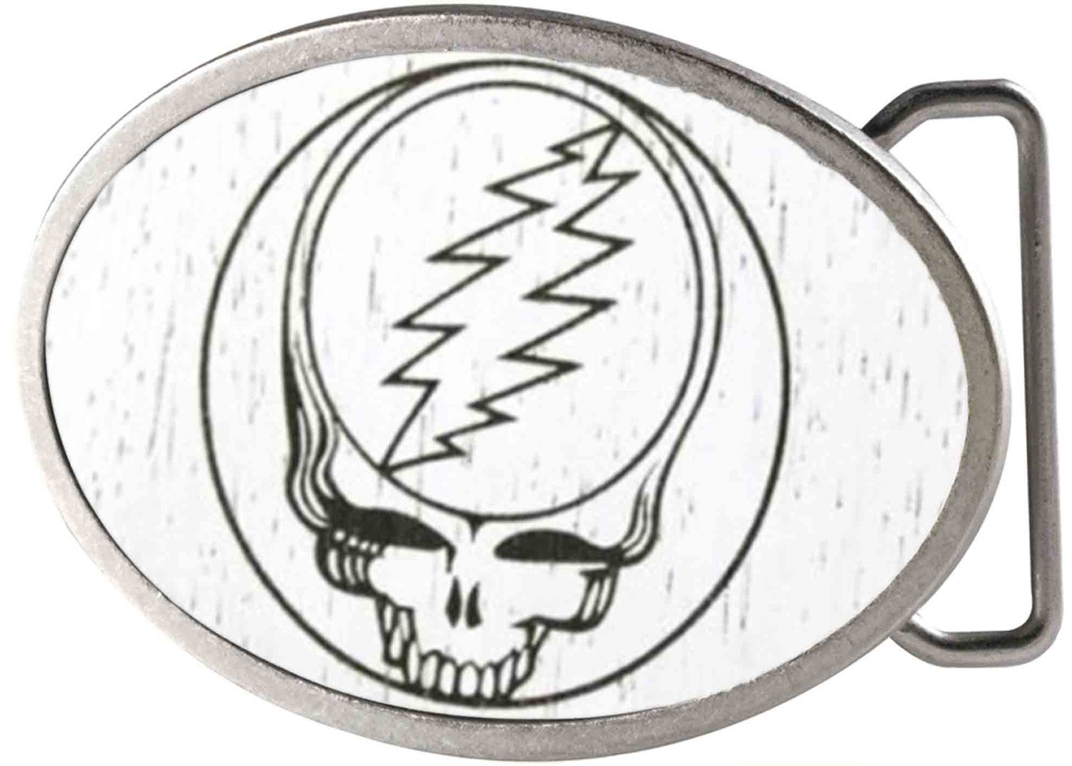 Grateful Dead Psychedelic Rock Band Lightning Bolt Skull Rockstar Belt Buckle Buckle Down