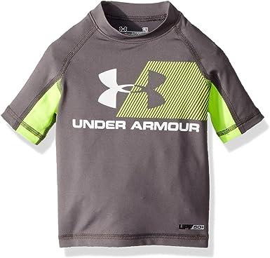 taza enfocar Exactamente  Amazon.com: Under Armour Boys' Baby H20 Reveal Short Sleeve T-Shirt  Rashguard: Clothing