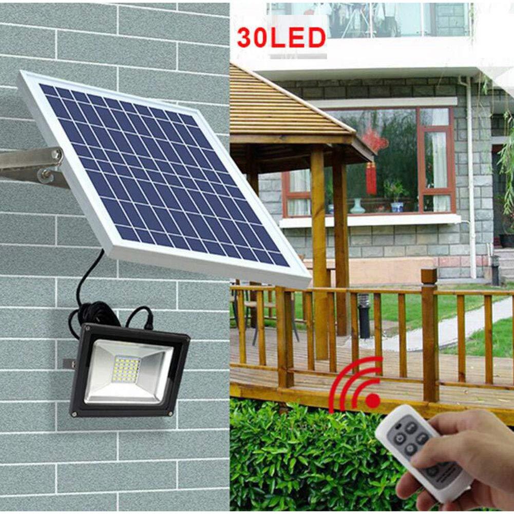 Suguoguo 30LED Outdoor LED Solarlicht, Aluminium Alloy Lampshade Wasserdicht Mit Fernbedienung Solar Garden Light Floodlight geeignet für Garden Patio