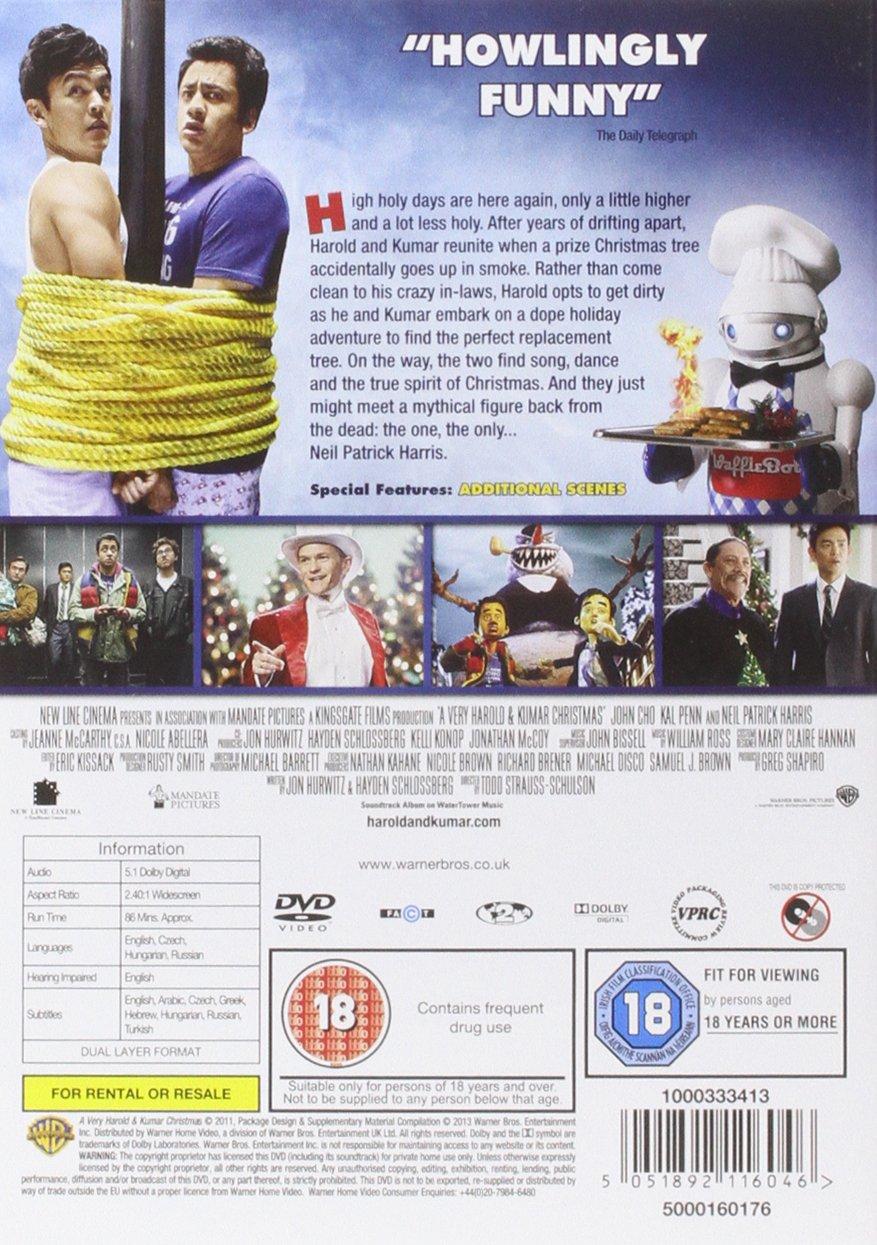 A Very Harold And Kumar Christmas [DVD]: Amazon.co.uk: John Cho, Kal ...