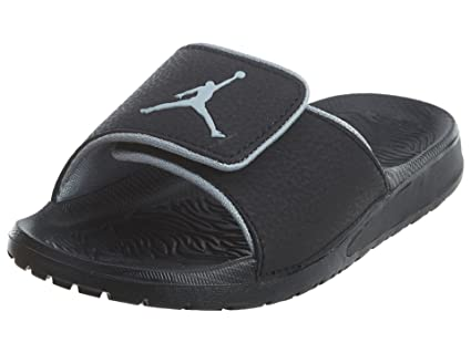 29ce68bb0 Image Unavailable. Image not available for. Color  Jordan Hydro 6 BP Little  Kid s Preschool Slides Black Wolf Grey ...