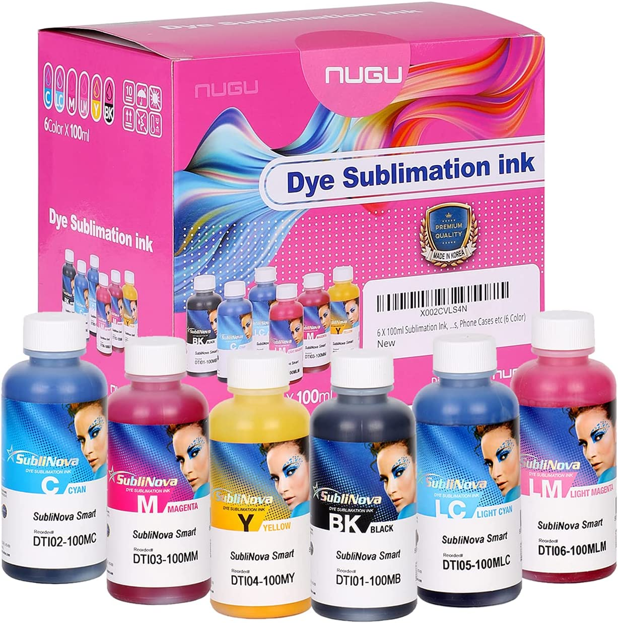 6 X 100ml Sublimation Ink